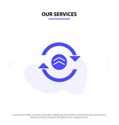 our services arrow refresh reload computing solid vector image
