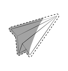 Paper plane draw vector