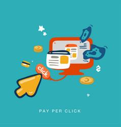 pay per click invert vector image