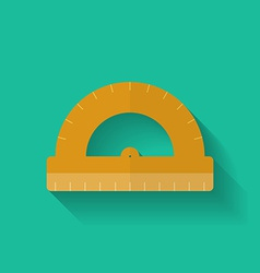 Protractor icon Flat style vector