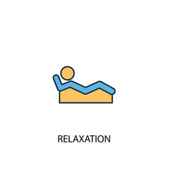 Relaxation concept 2 colored line icon simple vector