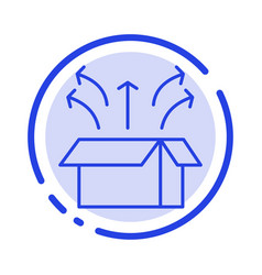 Release box launch open box product blue dotted vector