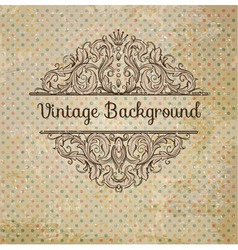 Retro Background With Vintage Elements vector