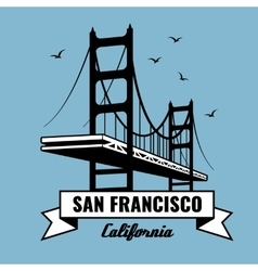 San Francisco Bridge poster vector