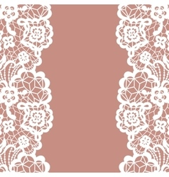 Seamless lace border Invitation card vector