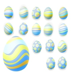 set easter eggs eps 10 vector image