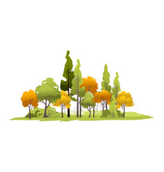 small island with trees forest vector image