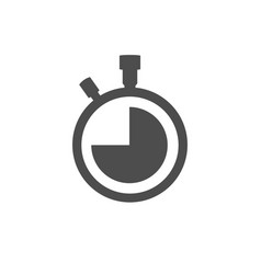 Stopwatch icon isolated on white background vector