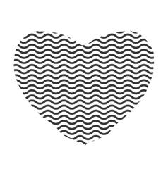 Striped heart icon Love design graphic vector image
