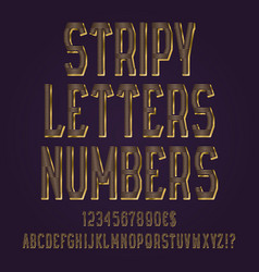 stripy golden letters numbers dollar and euro vector image