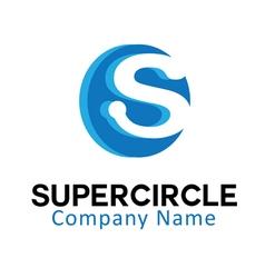 Super circle design vector