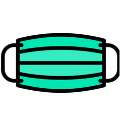Surgical mask filled style icon vector