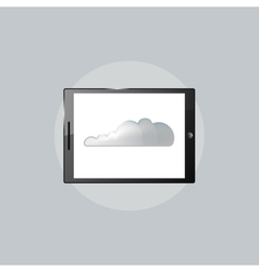 Technology icon tablet PC computer vector image