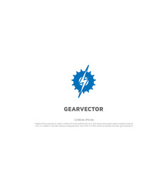 Thunder light with gear cog sprocket drive vector