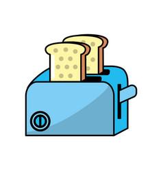 toaster technology kitchen utensil object vector image