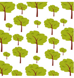 Tree plant forest pattern background vector