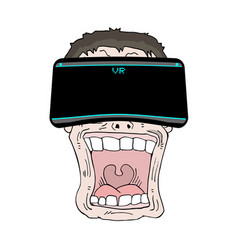virtual reality expression vector image