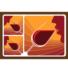 Wine tasting collage vector