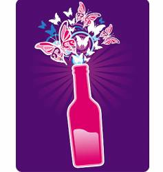 bottle spring vector image
