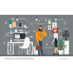 Business creative Women and man vector image