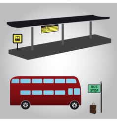 bus stop and bus eps10 vector image vector image