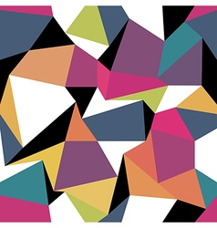 Colorful abstract triangles Seamless abstract vector image vector image