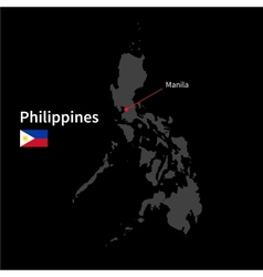Detailed map of Philippines and capital city vector image vector image