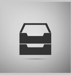 document inbox flat icon on grey background vector image