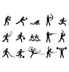 sport people silhouettes icon vector image vector image