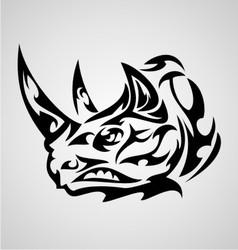 Rhino Head Tribal vector image vector image