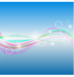 Abstract background - colorful waves and lines on vector