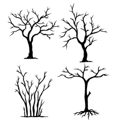 collection of dead trees vector image