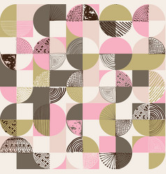 creative geometric and handdrawn seamless pattern vector image