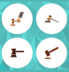 flat icon court set of government building crime vector image vector image