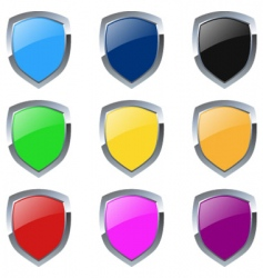 glossy emblem vector image