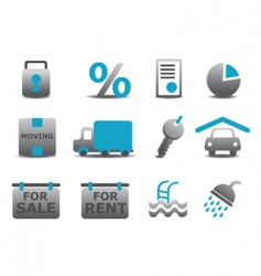 real estate and moving icons vector image
