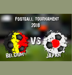 4554 - belgium vs japan vector