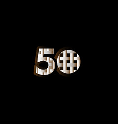 50 years anniversary celebration elegant black vector