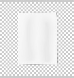 a4 format sheet of paper with shadows vector image