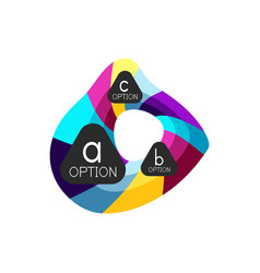 Abstract colorful geometric option infographics vector