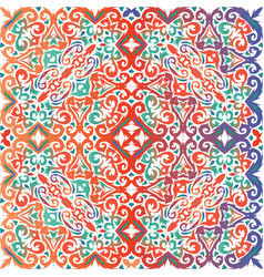 Antique talavera tiles patchwork vector