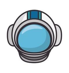 Astronaut helmet isolated icon vector