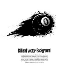 Background abstract billiard ball from blots vector