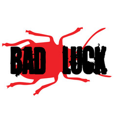 Bad luck sticker vector