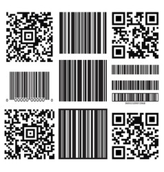 bar code labels vector image