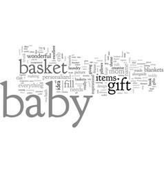 bashower gift basket vector image
