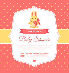 bashower invitation template on red polka dot vector image