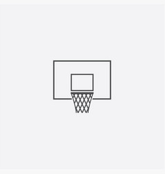 basketball basket icon vector image