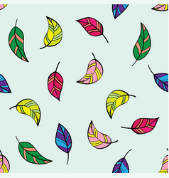 beautiful seamless pattern with decorative vector image