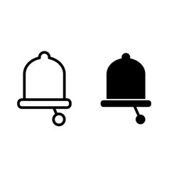 Bell line and glyph icon alarm vector
